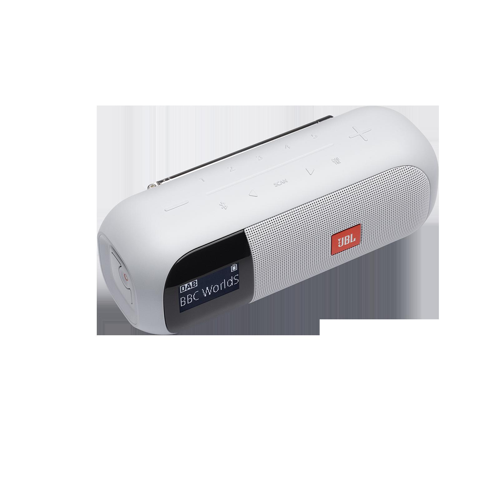 JBL Tuner 2 - White - Portable DAB/DAB+/FM radio with Bluetooth - Detailshot 1