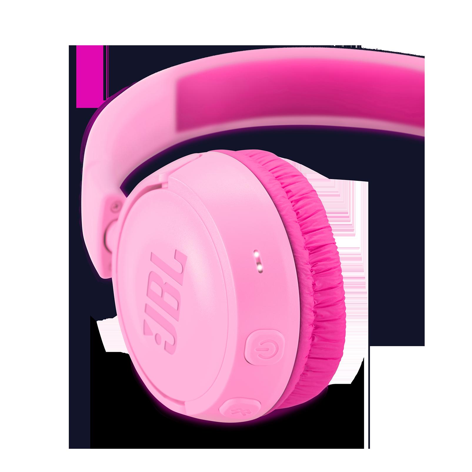 JBL JR300BT - Punky Pink - Kids Wireless on-ear headphones - Detailshot 2