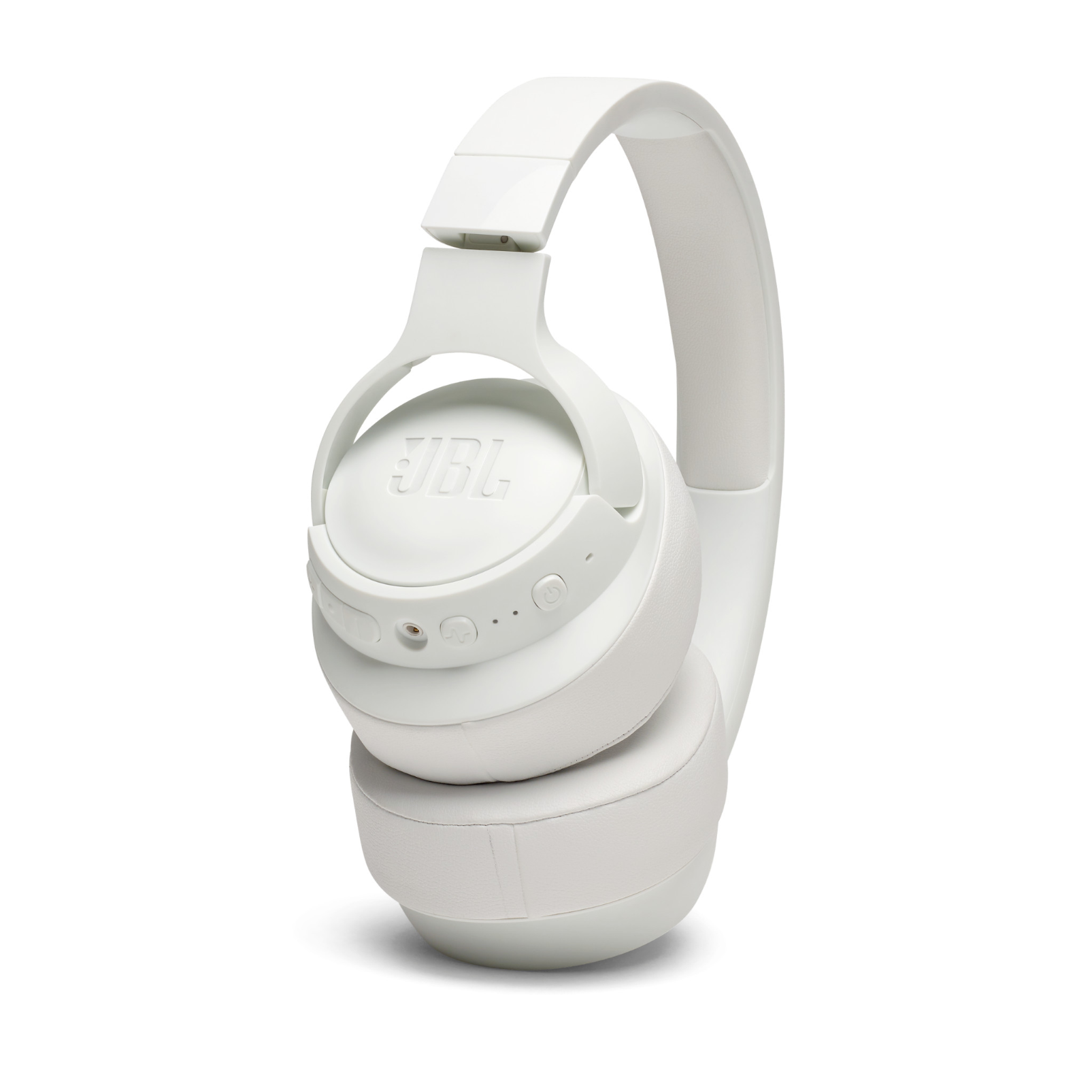 JBL TUNE 750BTNC - White - Wireless Over-Ear ANC Headphones - Detailshot 3