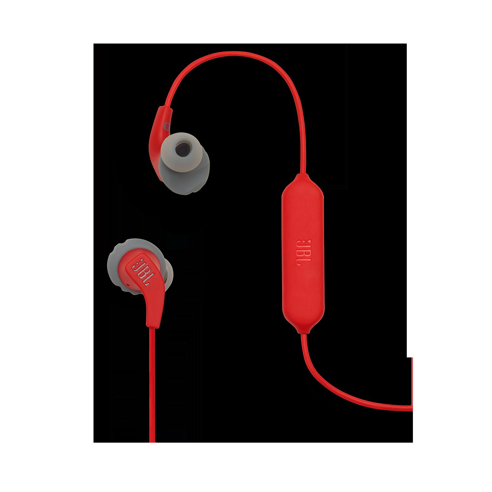 JBL Endurance RUNBT - Red - Sweatproof Wireless In-Ear Sport Headphones - Detailshot 1