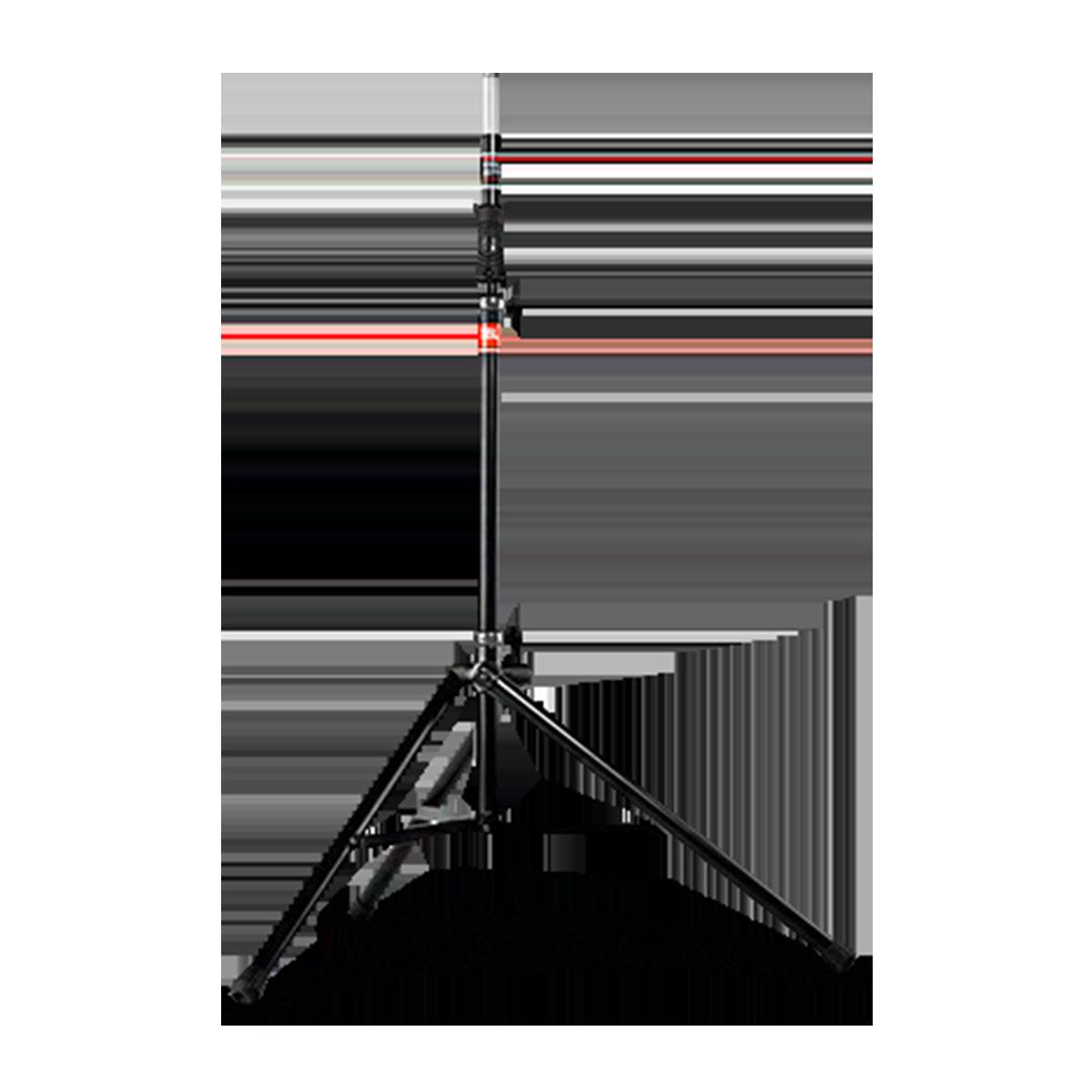 JBL Tripod Stand (Gas Assist) - Black - Lift-assist Aluminum Tripod Speaker Stand with Integrated Speaker Adapter - Hero
