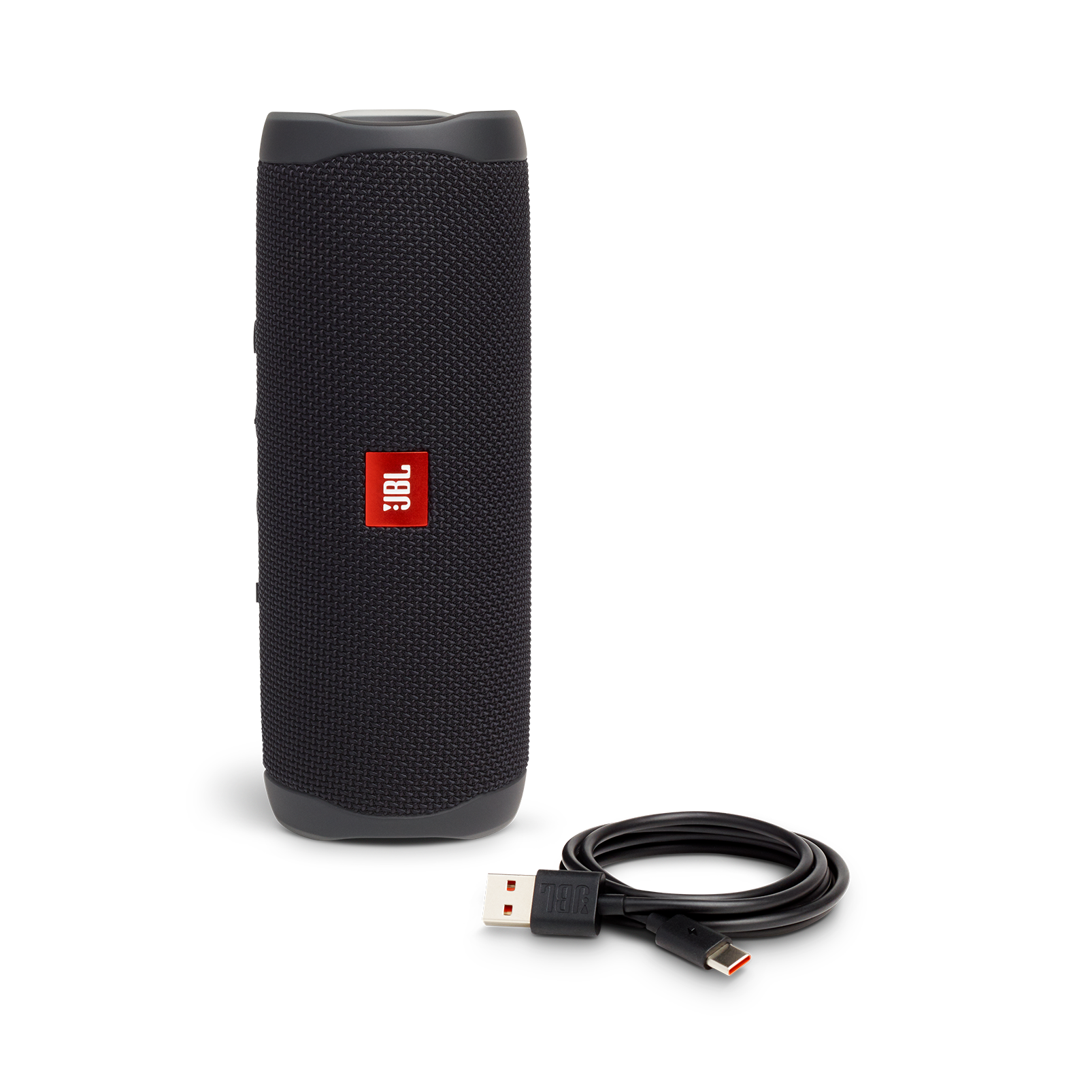 JBL FLIP 5 - Black Matte - Portable Waterproof Speaker - Detailshot 1