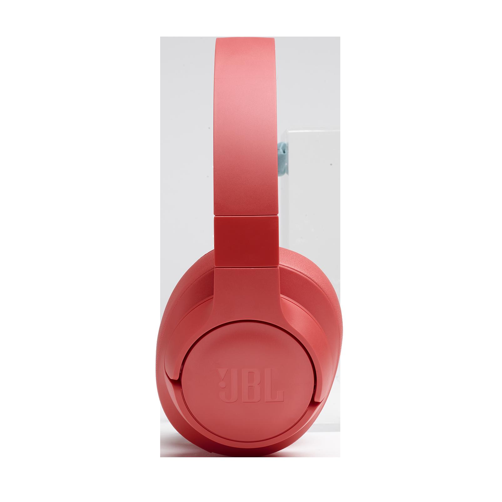 JBL TUNE 700BT - Coral Orange - Wireless Over-Ear Headphones - Detailshot 4