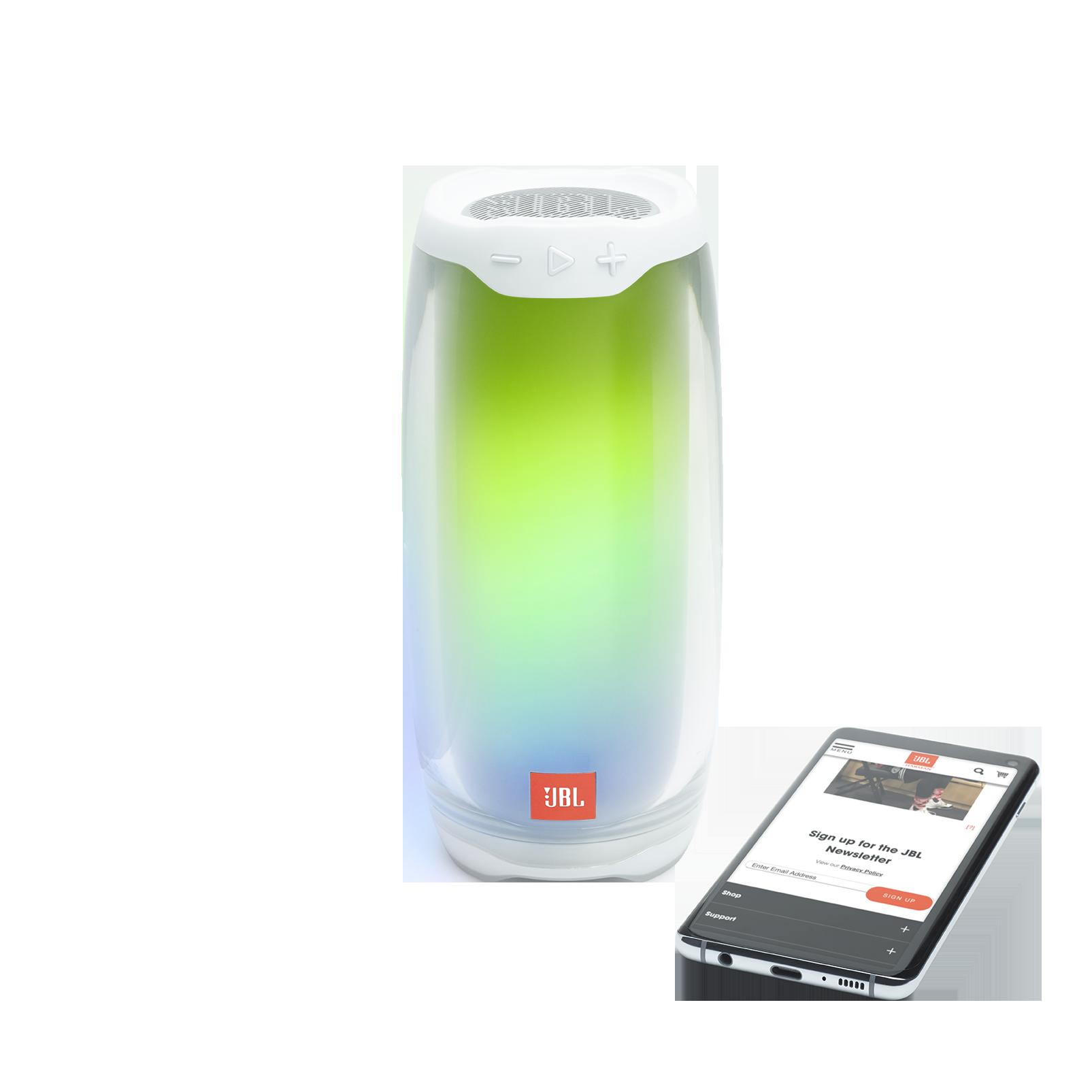 JBL Pulse 4 - White - Portable Bluetooth Speaker - Detailshot 3